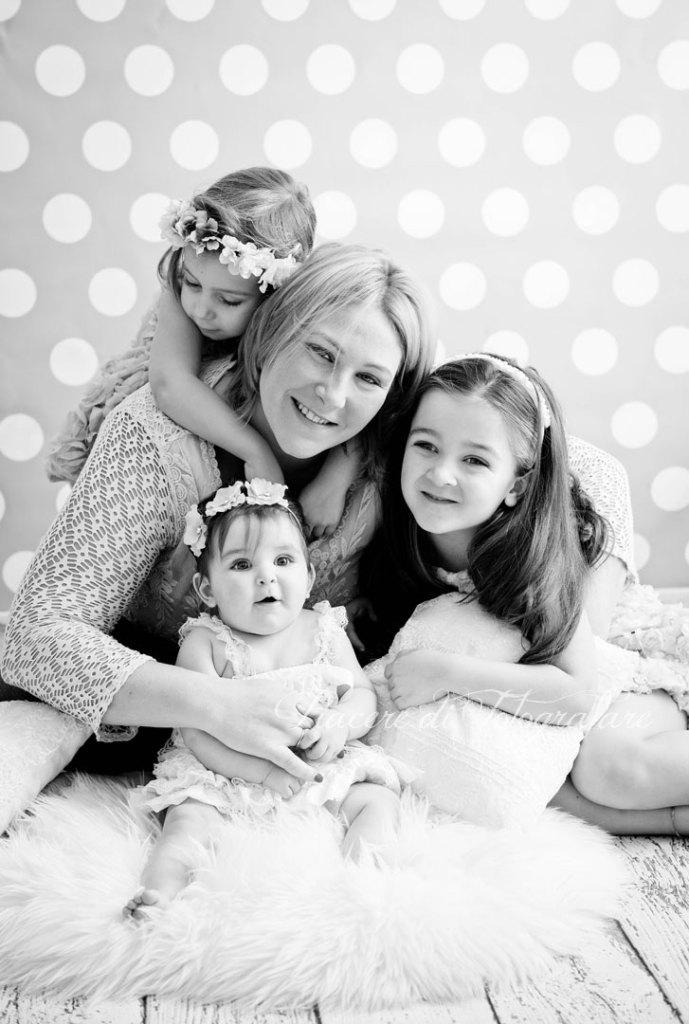 foto di famiglia con bambine