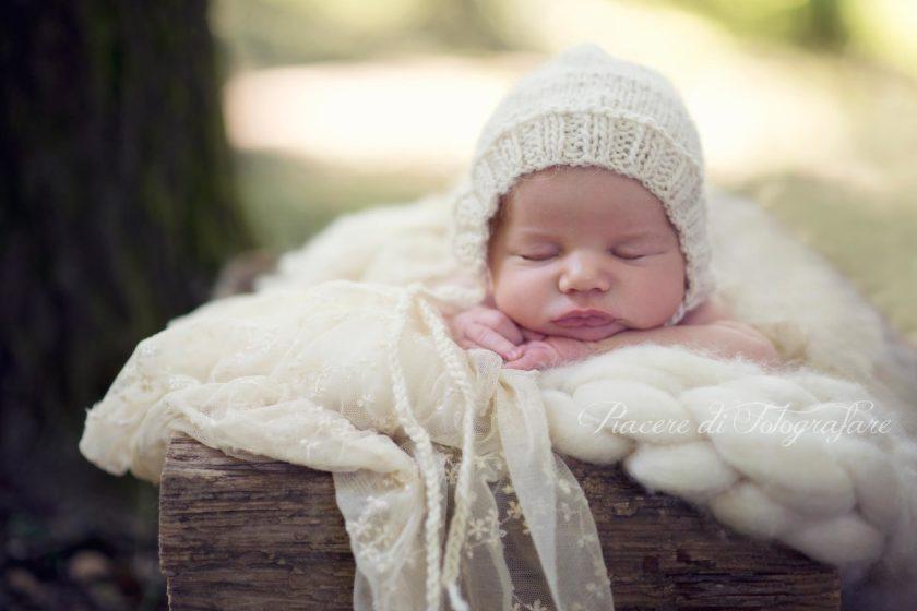 servizi fotografici neonati roma camilla esterno bosco
