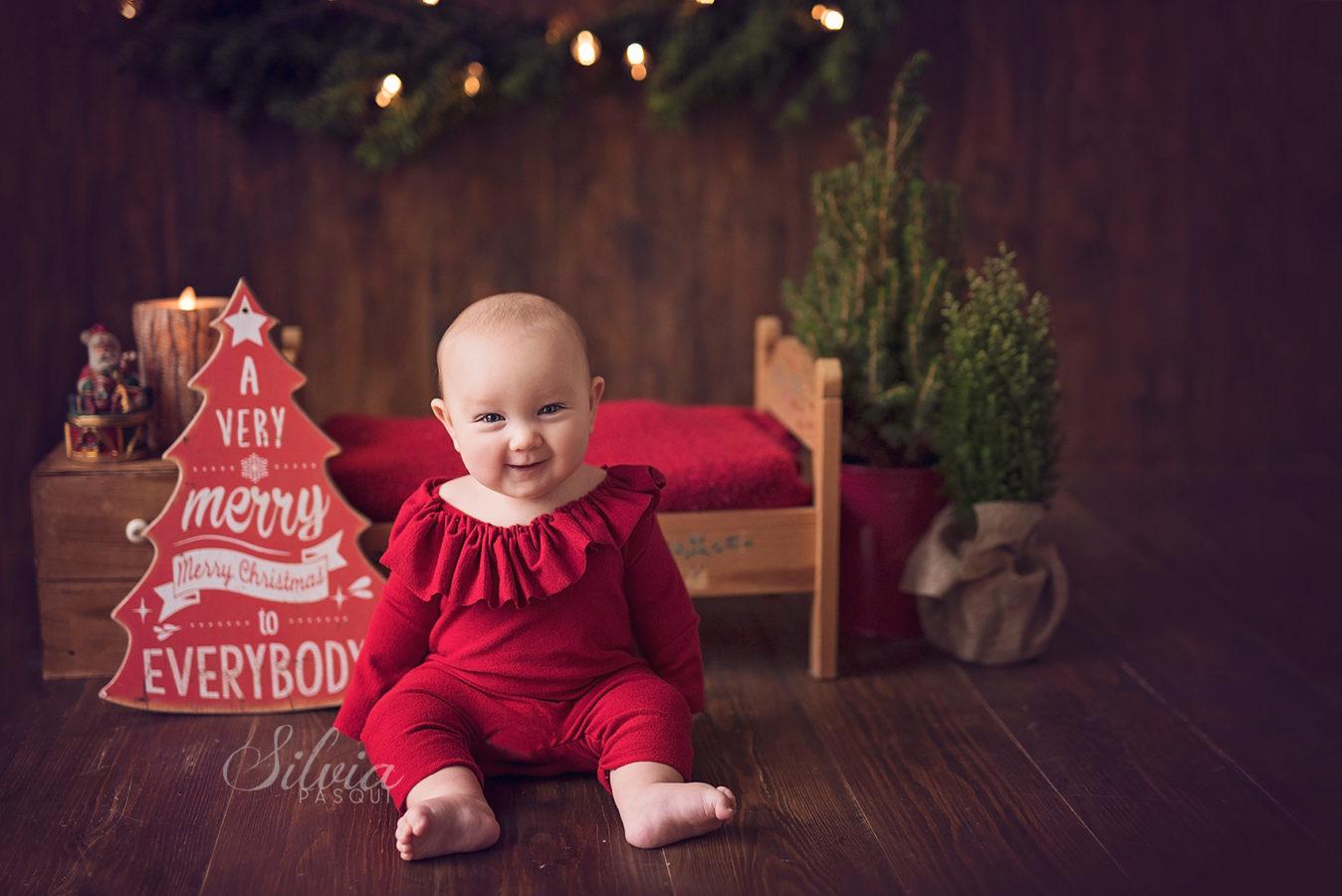 Immagini Di Bambini Natalizie.Fotografie Di Bambini Natalizie Il Primo Natale Di Bianca