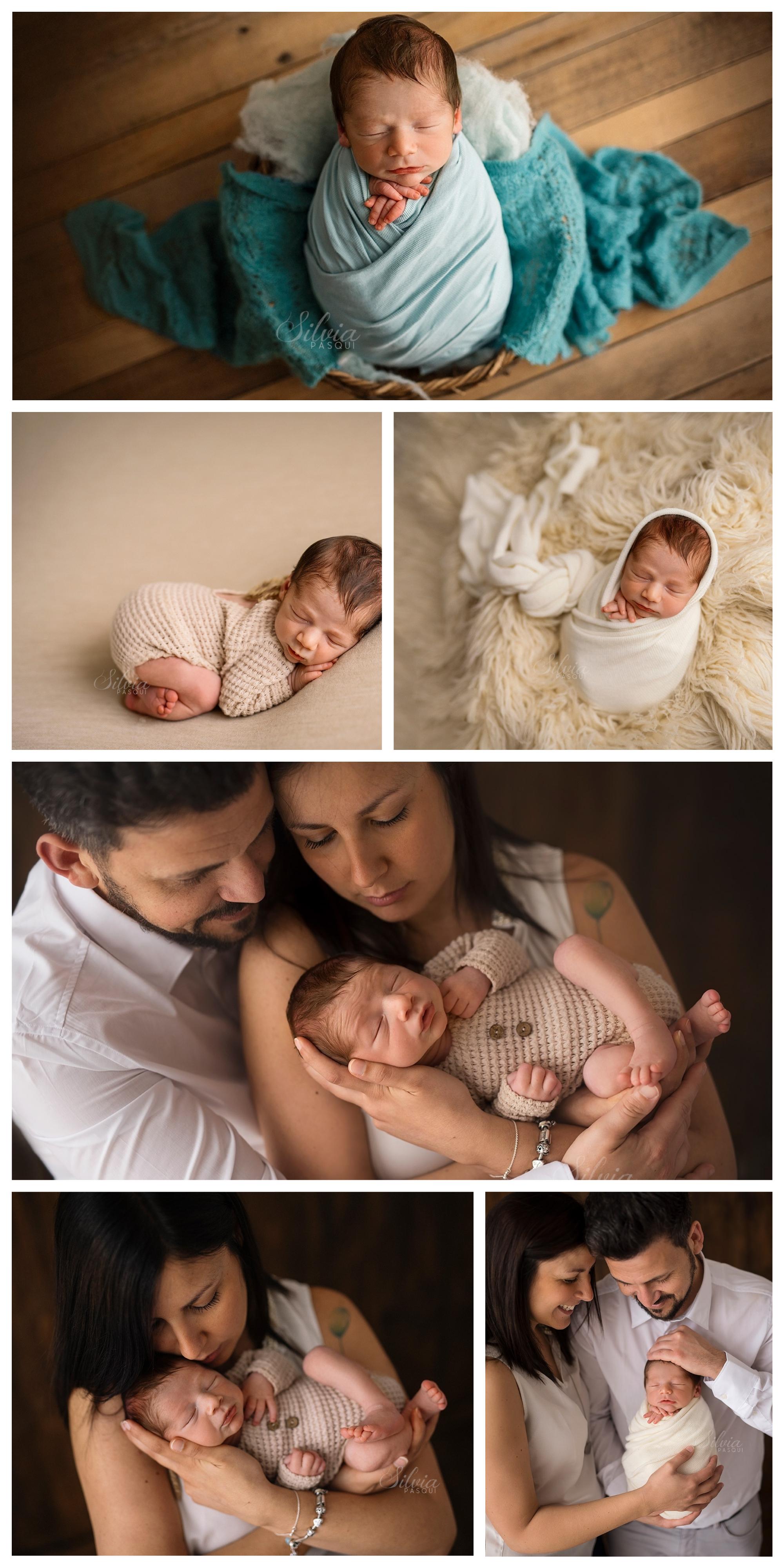foto famiglia neonato