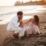 famiglia al mare fotografate