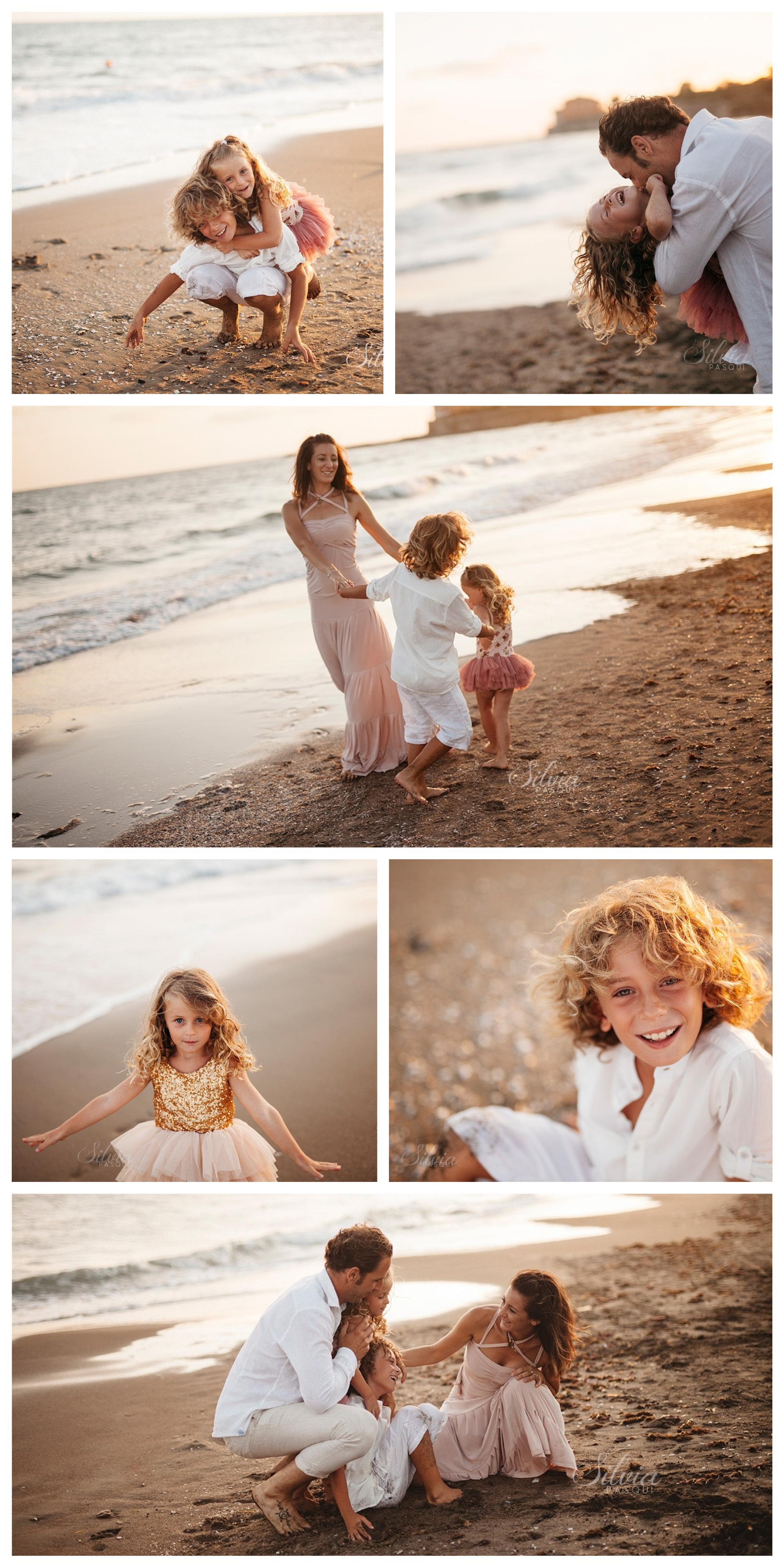 servizio fotografico famiglia al mare