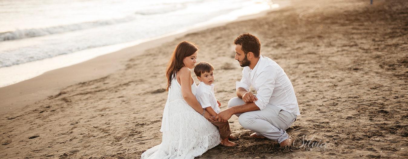 Al mare con mamma e papà