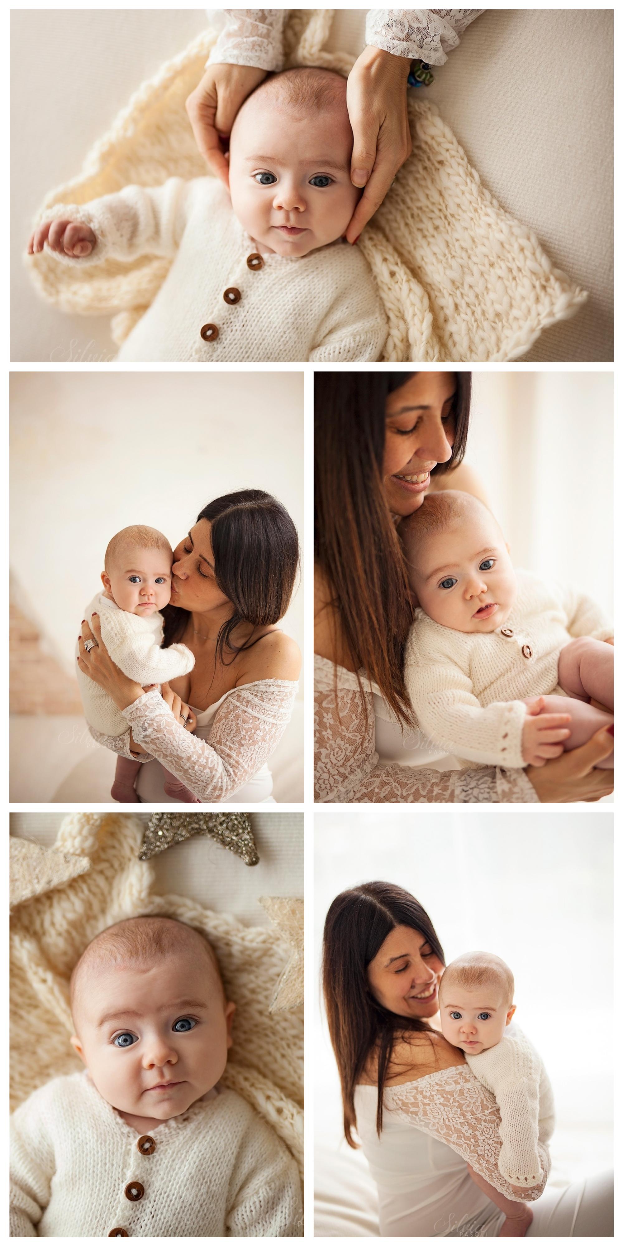 foto bambino tre mesi con mamma