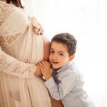 Servizio fotografico in gravidanza con figli