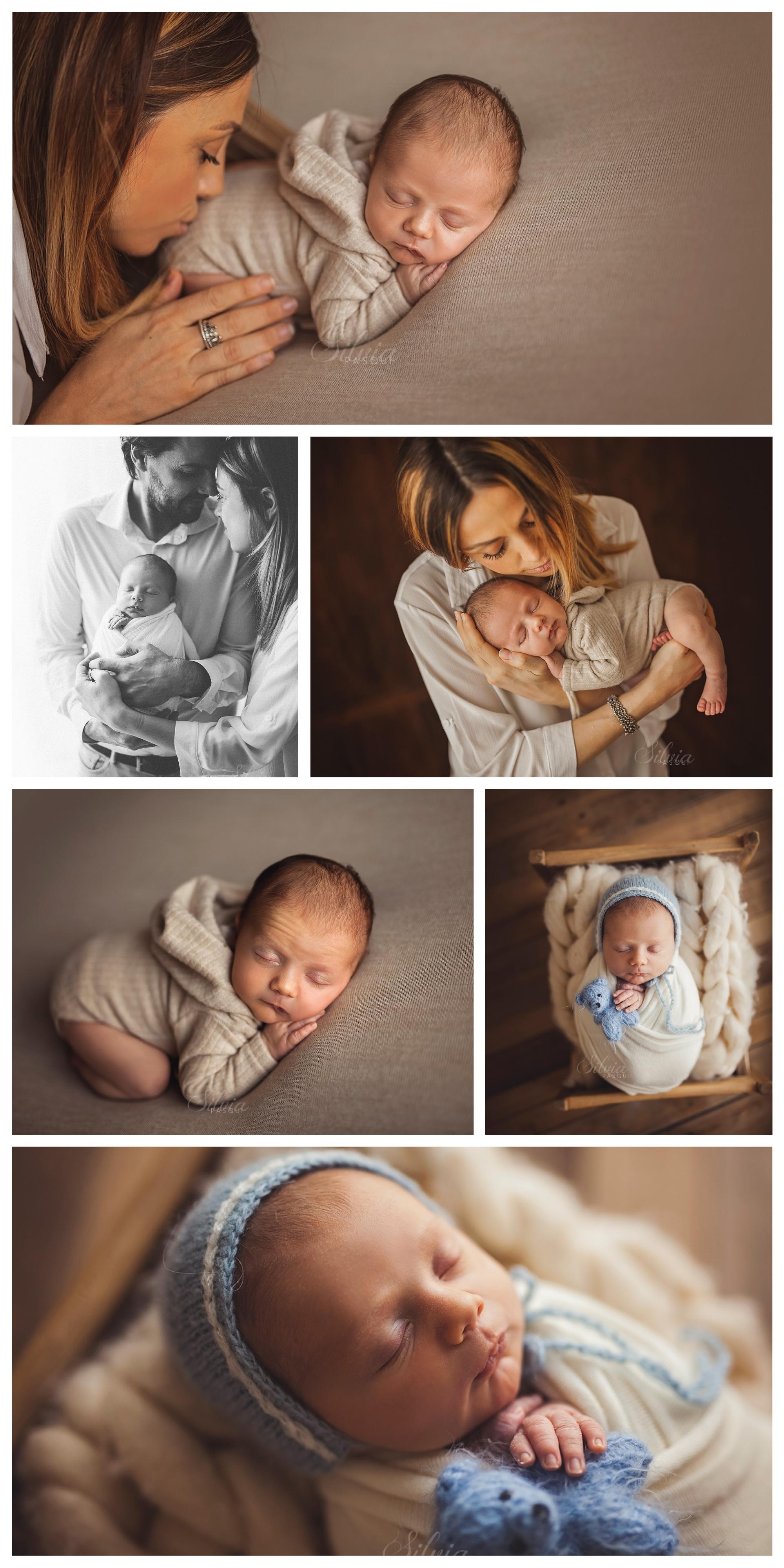 neonati foto con genitori