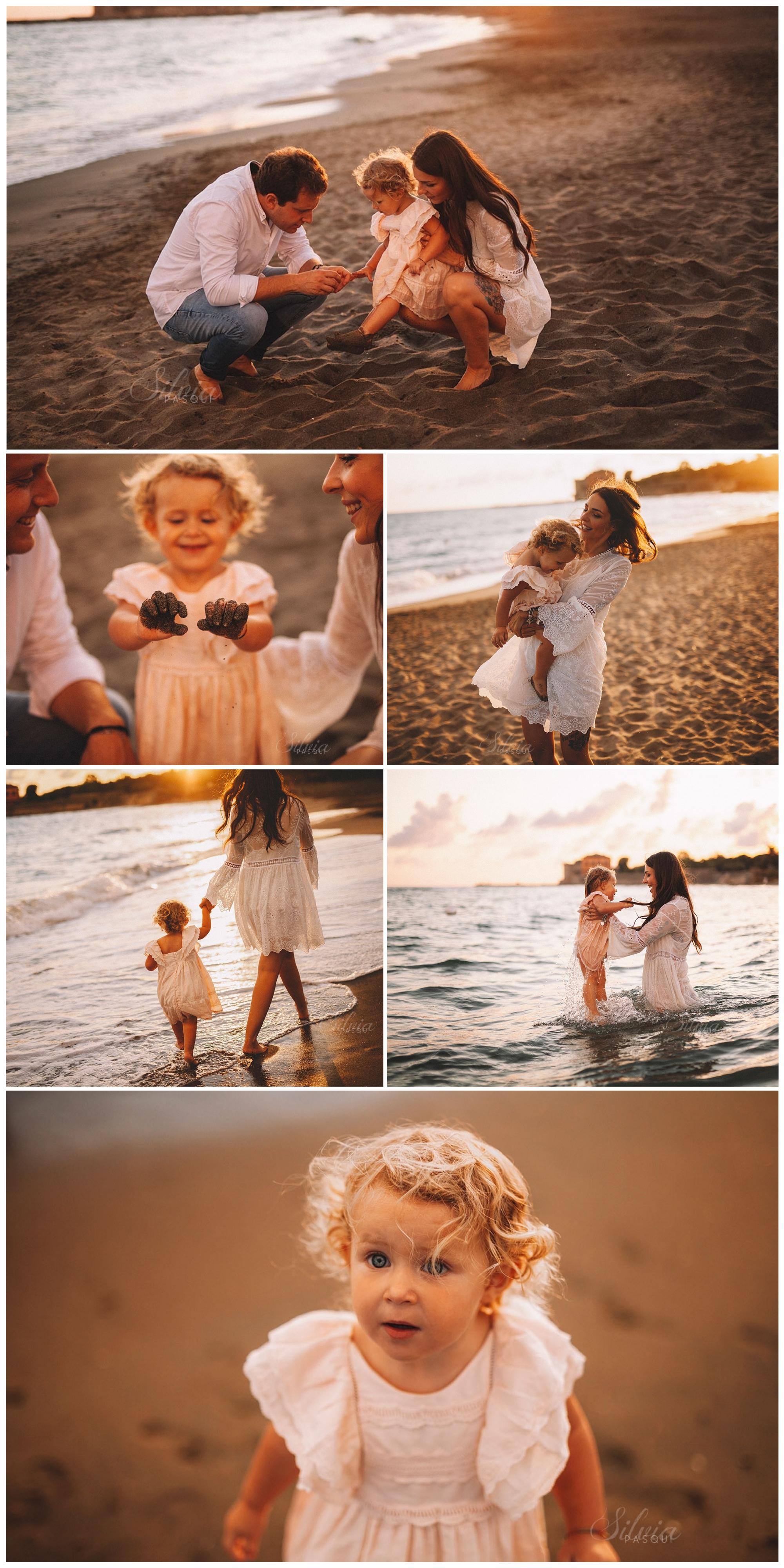 fotografie in spiaggia, mare famiglia