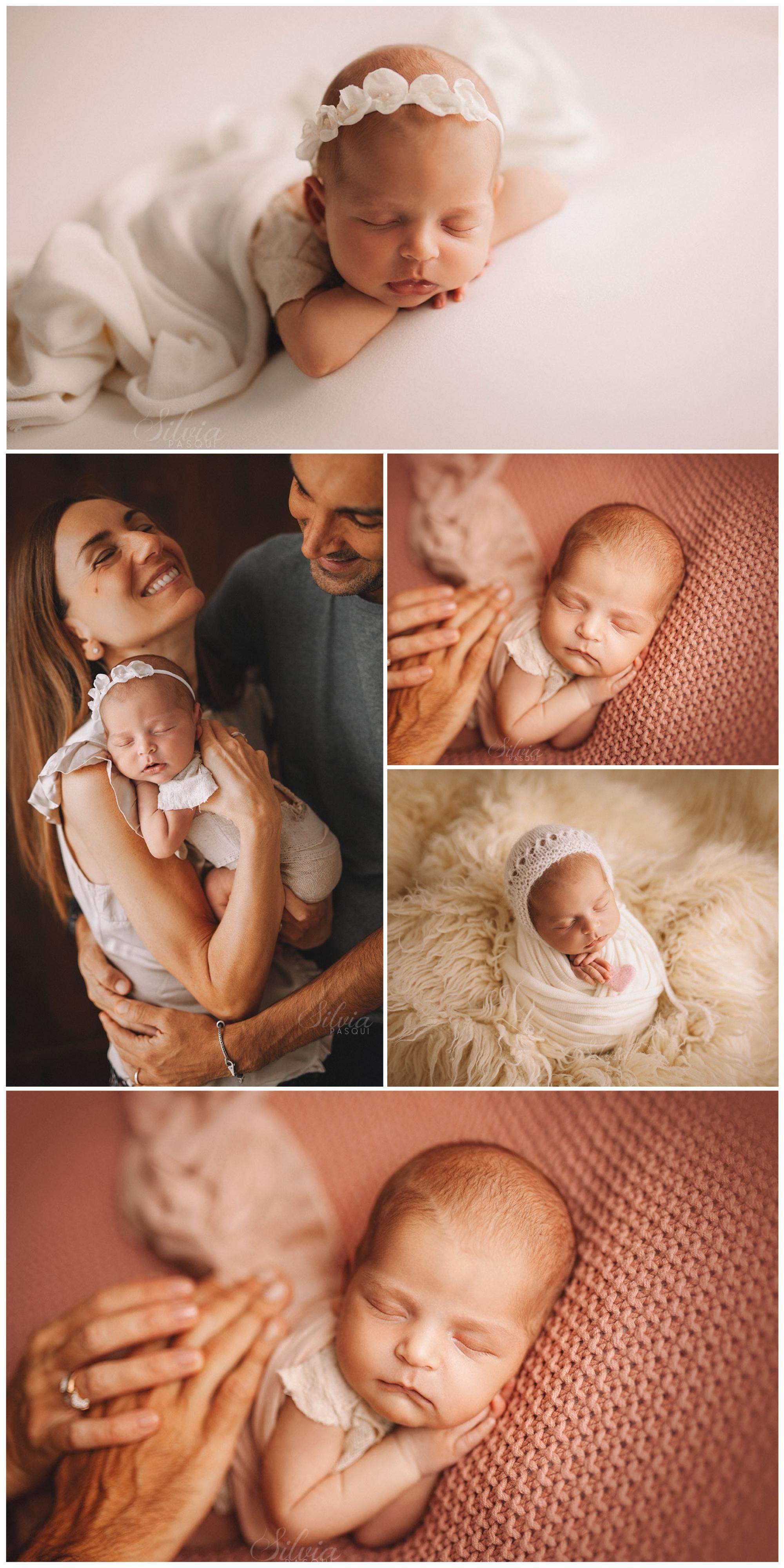 bambina appena nata fotografa