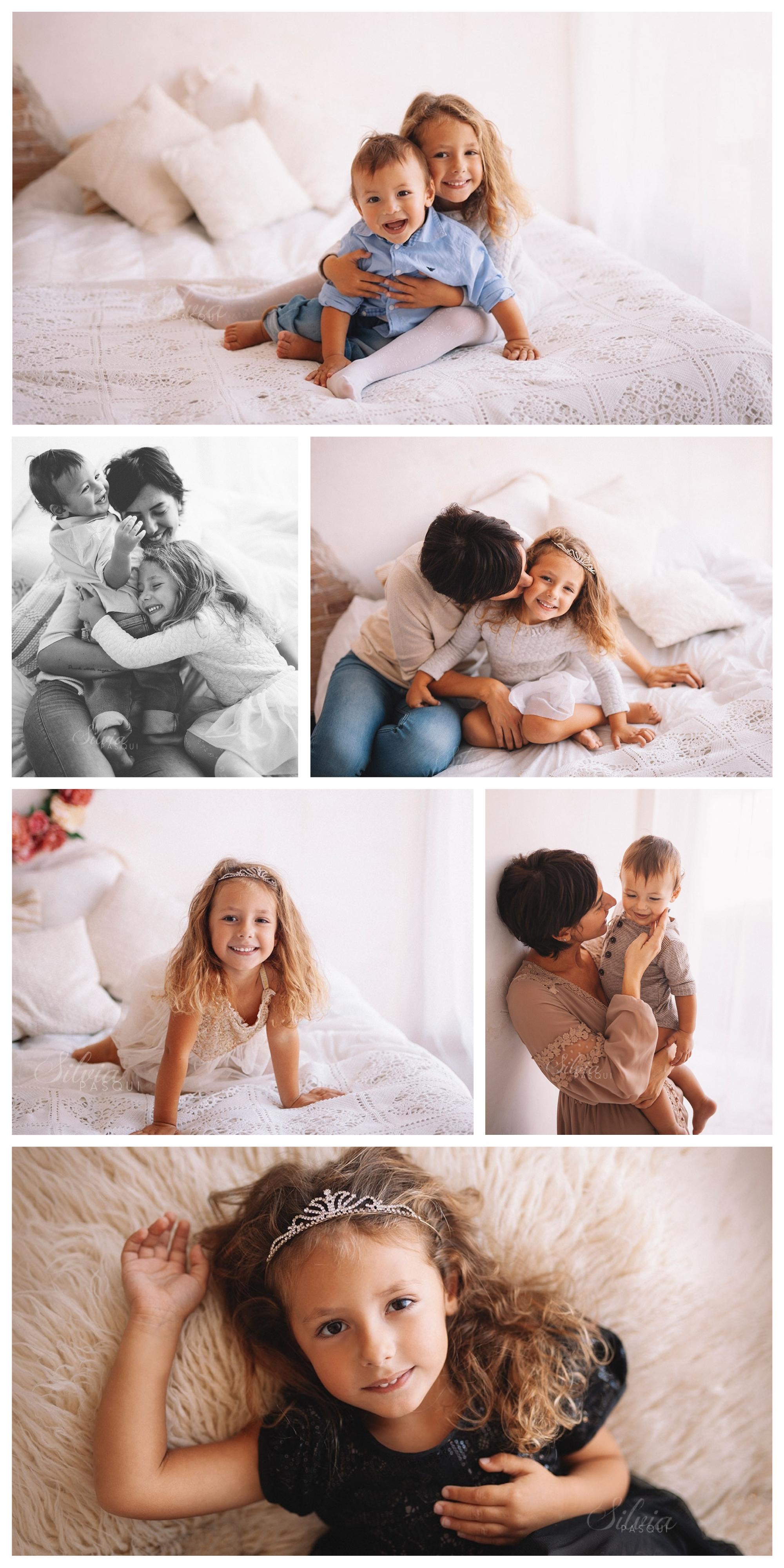 foto famiglia con figli
