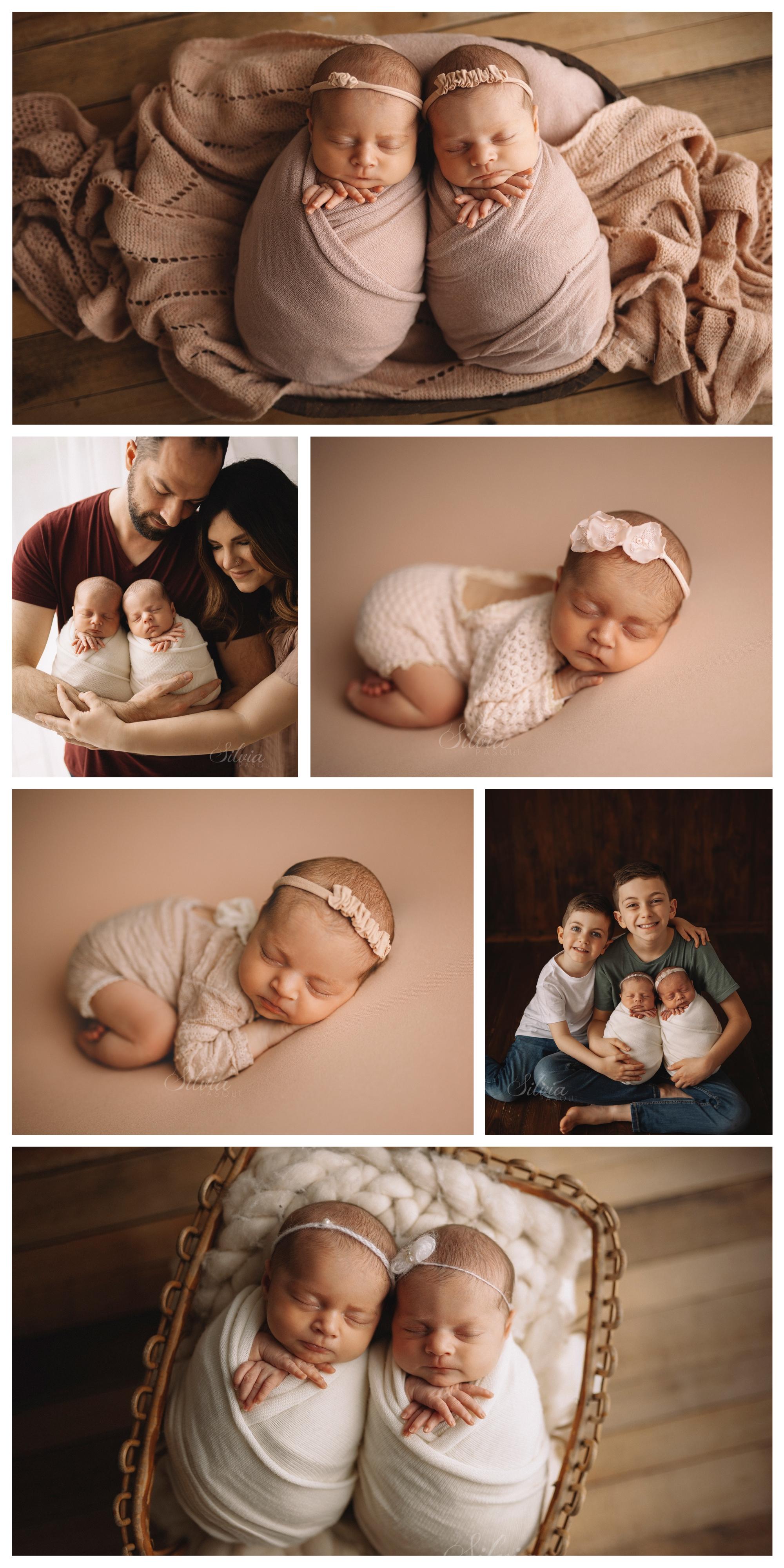 servizio foto fotografo gemelli neonati