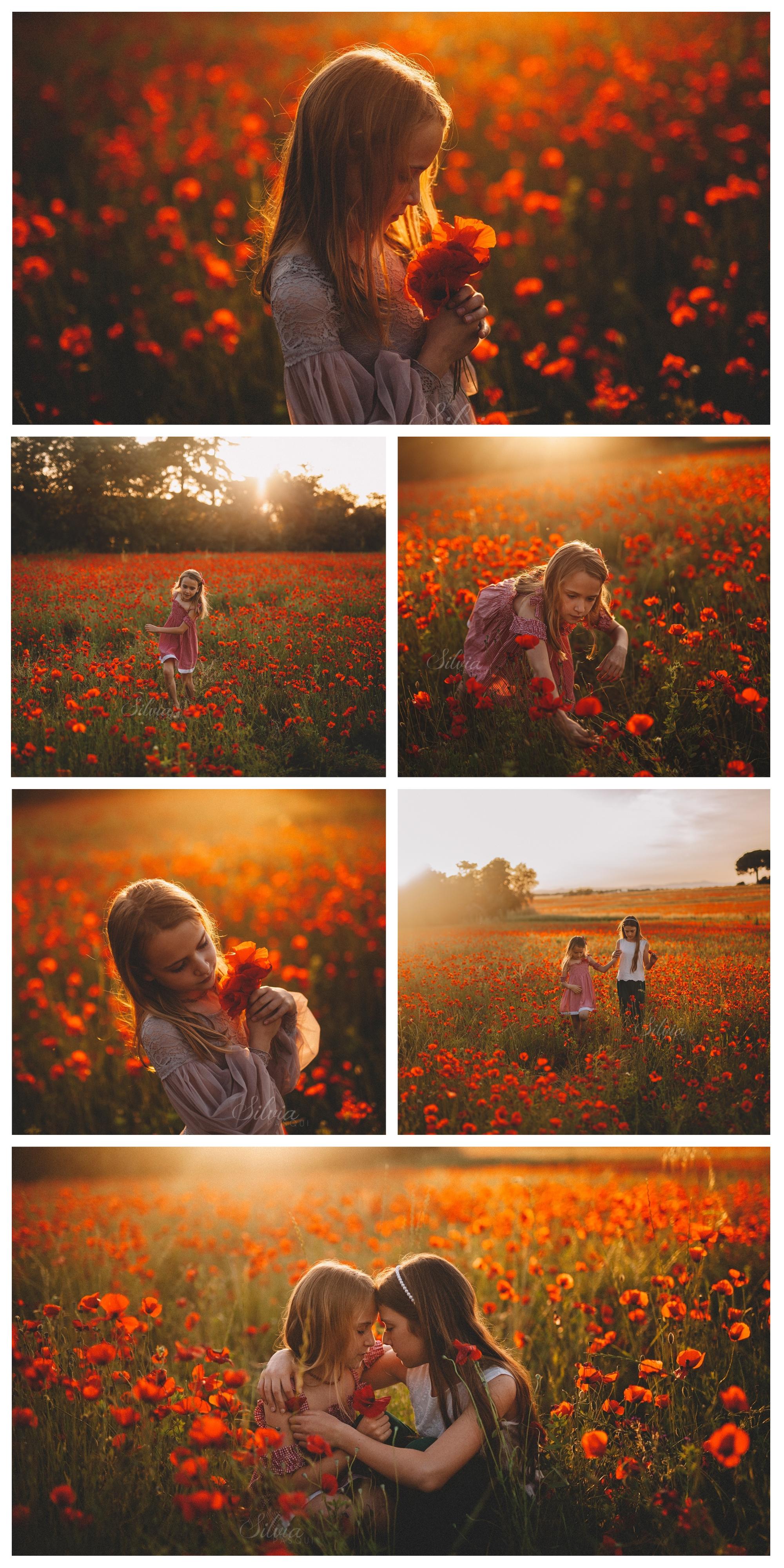servizi foto bambini papaveri