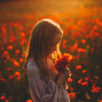 foto bambini papaveri