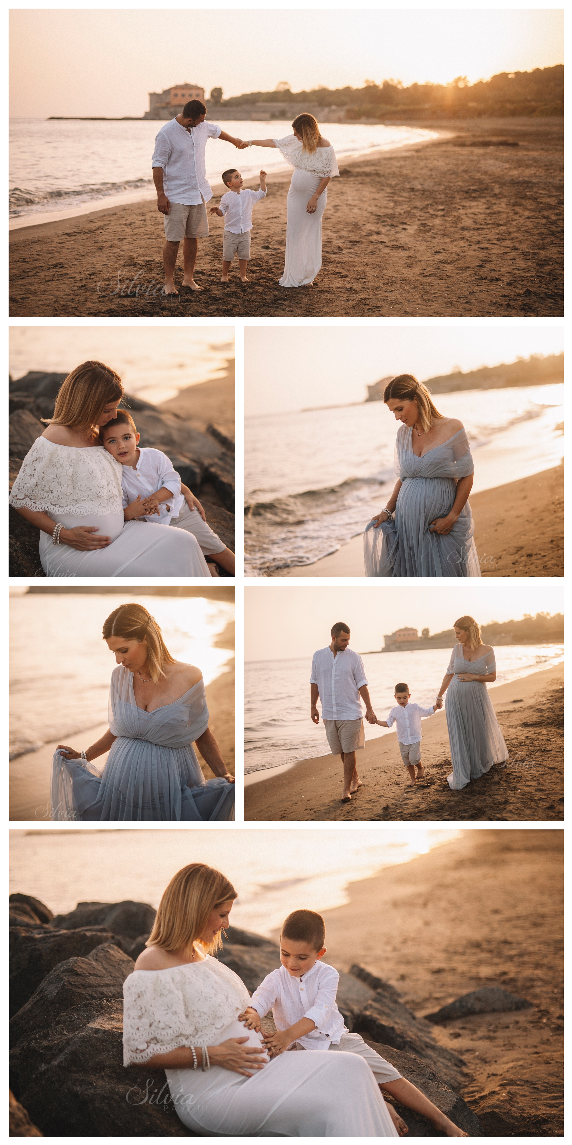 servizio fotografico mare incinta sara