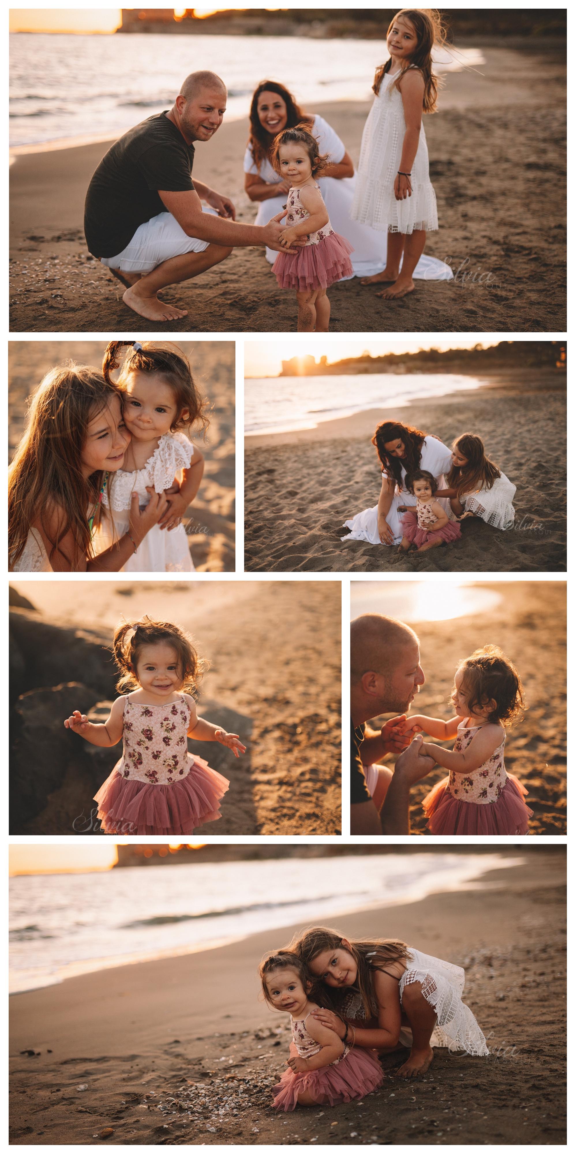 famiglia foto al mare